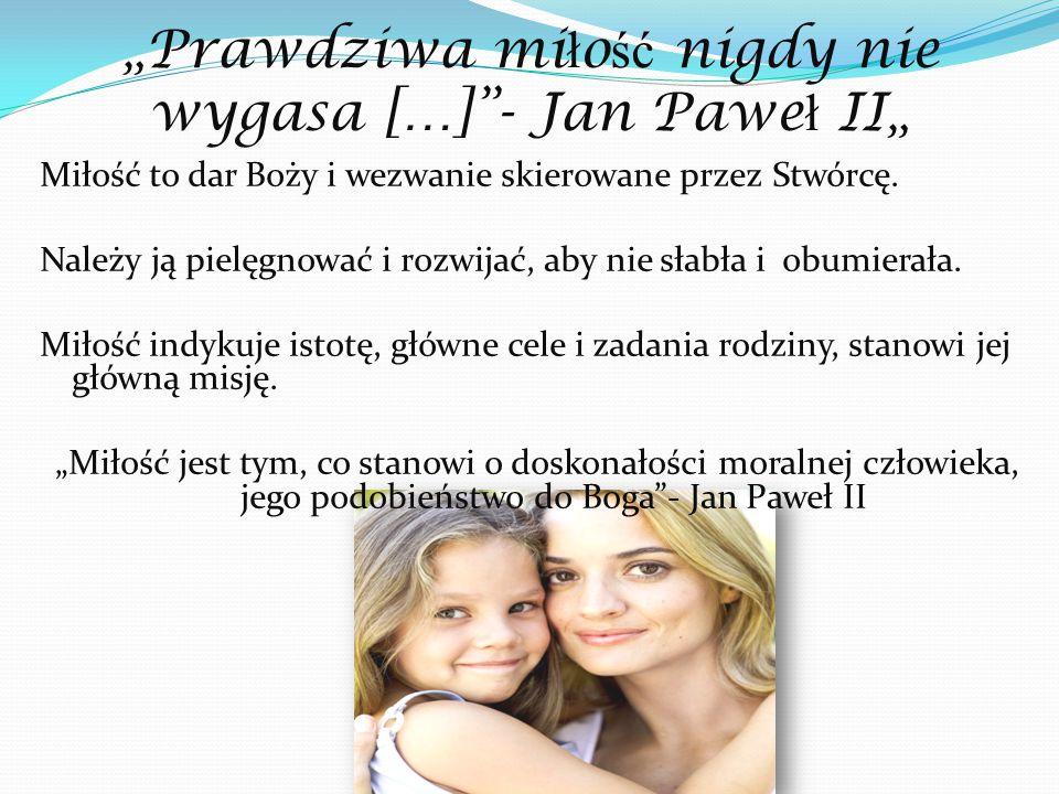 """""""Prawdziwa miłość nigdy nie wygasa […] - Jan Paweł II"""""""